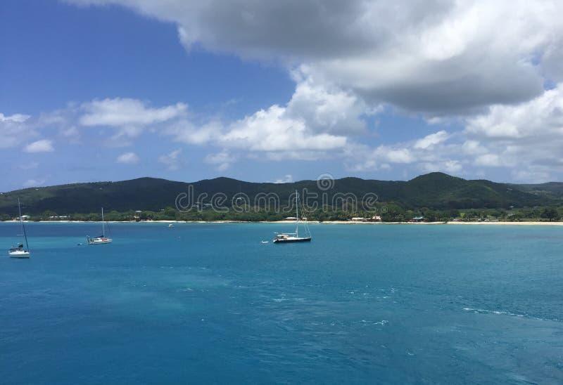 Océan bleu à St Thomas photo stock