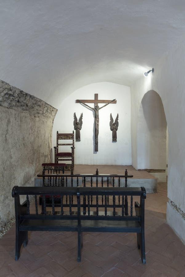Océan chapelle de cruiseA d'océan à la petite dans le Parroquia San Pedro Claver photo stock