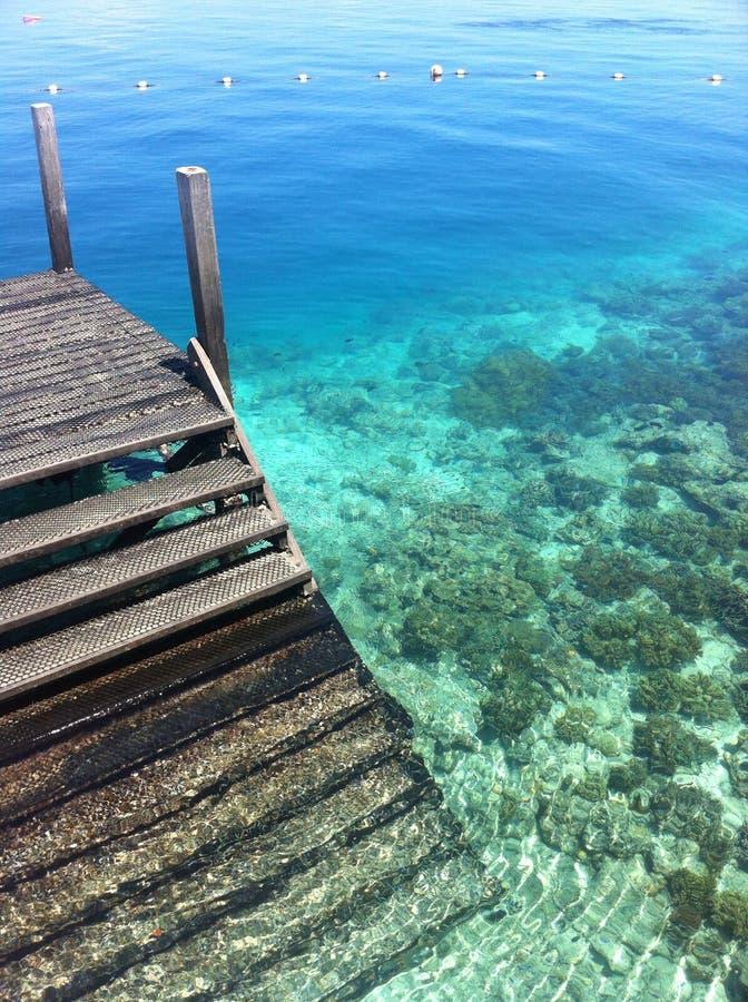 Océan clair comme de l'eau de roche photographie stock