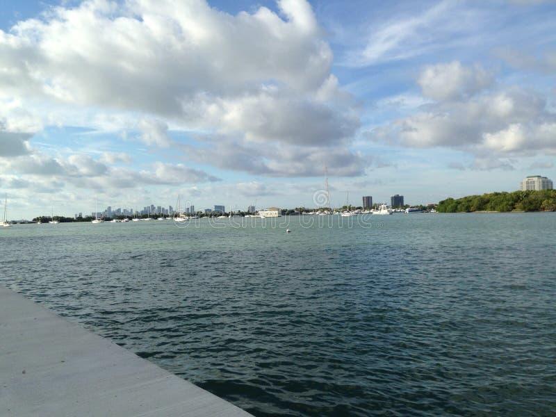 Océan de Miami Beach images libres de droits