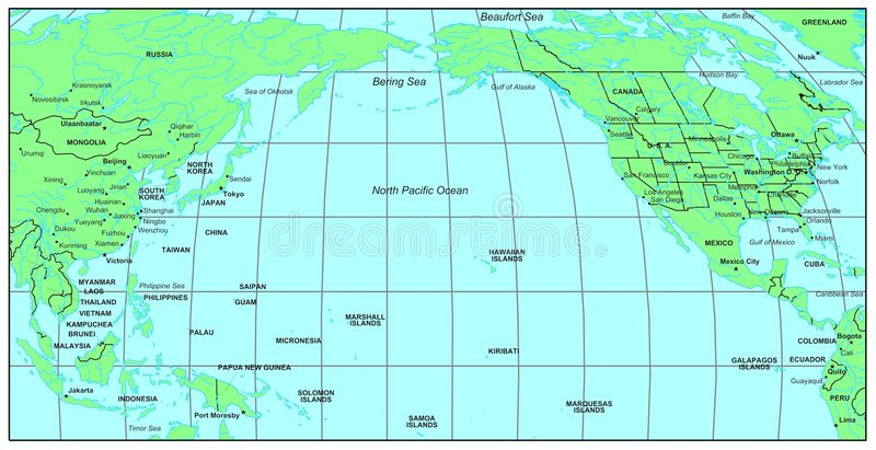 Océan de North Pacific illustration libre de droits