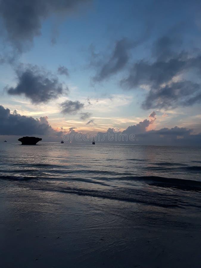 Océan du Kenya de watamu de Mbeach photos stock