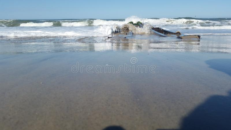 Océan en Caroline du Nord photographie stock
