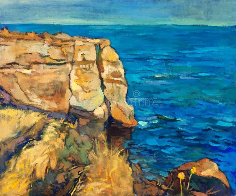 Océan et falaises illustration libre de droits