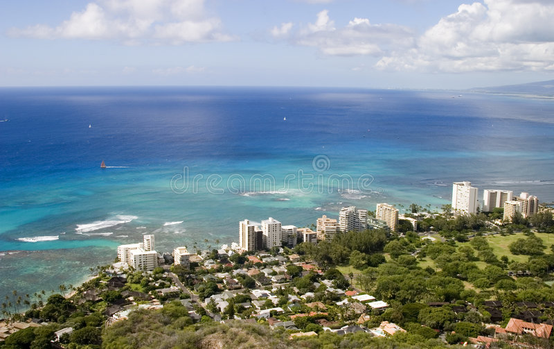 Océan hawaïen photographie stock libre de droits