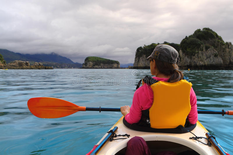 Océan kayaking photo libre de droits