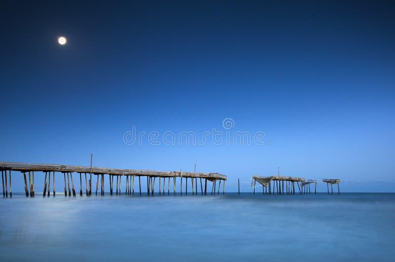 Océan national de clair de lune du bord de la mer OR de Hatteras de cap photo libre de droits