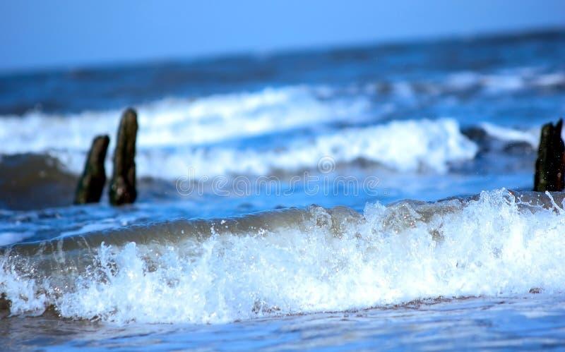 Océan orageux image stock
