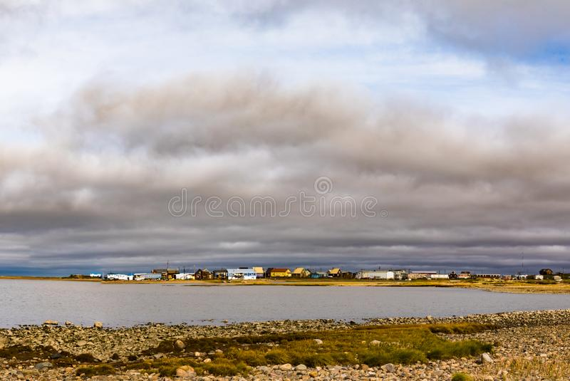 Océano Ártico Tuktoyaktuk Territorios Noroeste Canadá foto de archivo