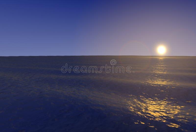 Océano 3d Foto de archivo libre de regalías