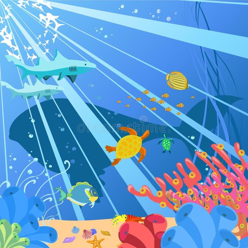 Océano ilustración del vector