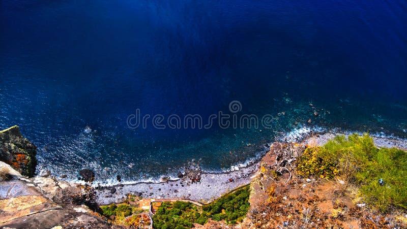Océano Atlántico alrededor de la isla Madeira foto de archivo libre de regalías