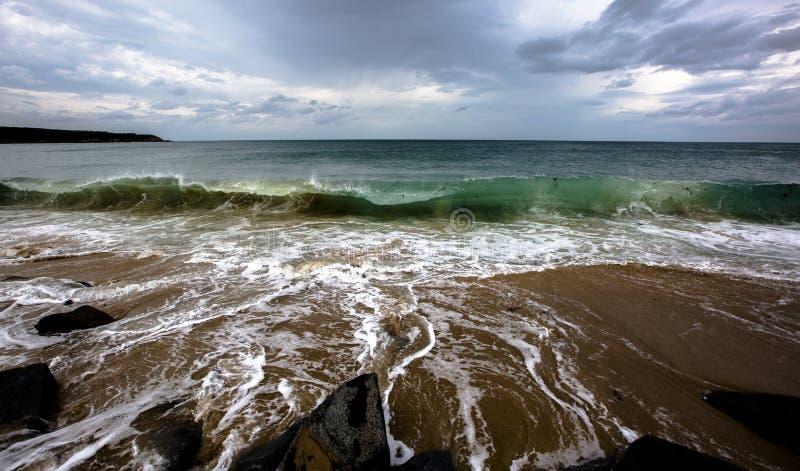 Océano Atlántico antes de la tormenta imágenes de archivo libres de regalías