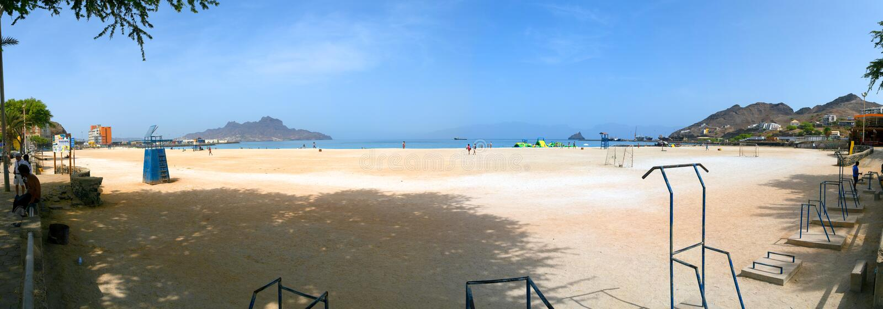 Océano Atlántico, playa Laginha, sao Vicente, Mindelo imagenes de archivo