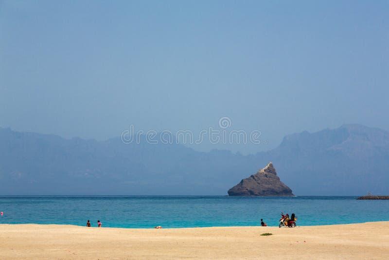 Océano Atlántico, playa Laginha, sao Vicente, Mindelo fotografía de archivo