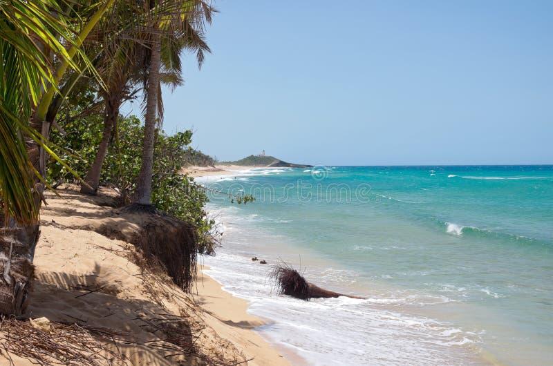 Océano Atlántico y costa septentrional de Puerto Rico fotos de archivo libres de regalías
