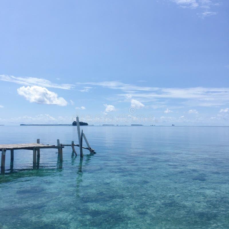 Océano azul fotografía de archivo libre de regalías