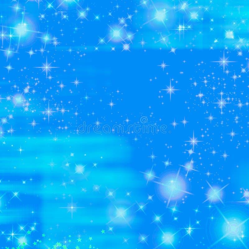Océano azul del centelleo del cielo de la chispa ilustración del vector