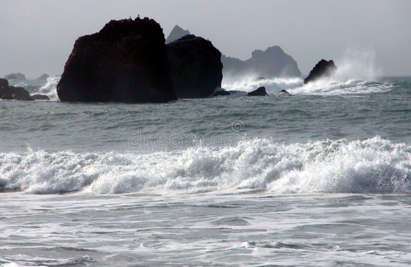 Océano blanco y negro foto de archivo libre de regalías