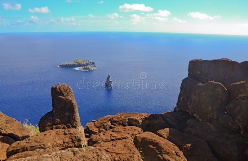 Océano de la isla de pascua foto de archivo libre de regalías
