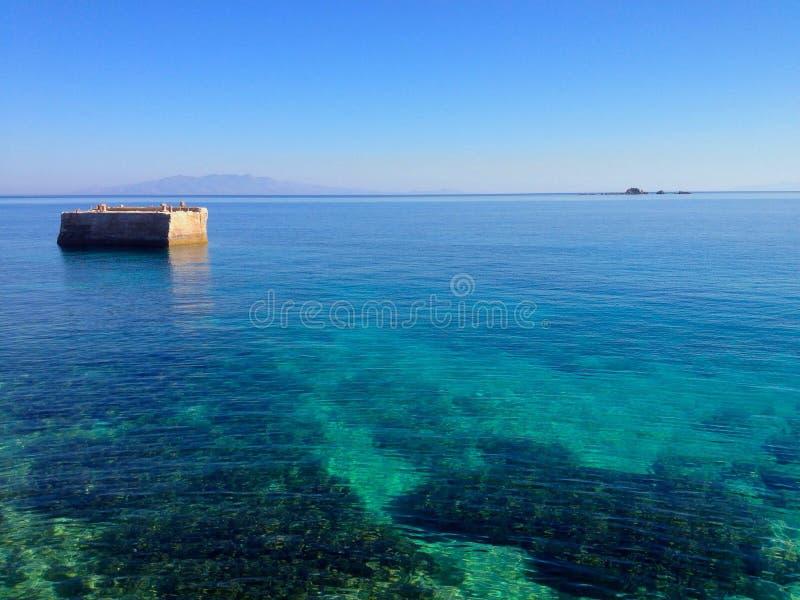 Océano de Mykonos fotos de archivo libres de regalías