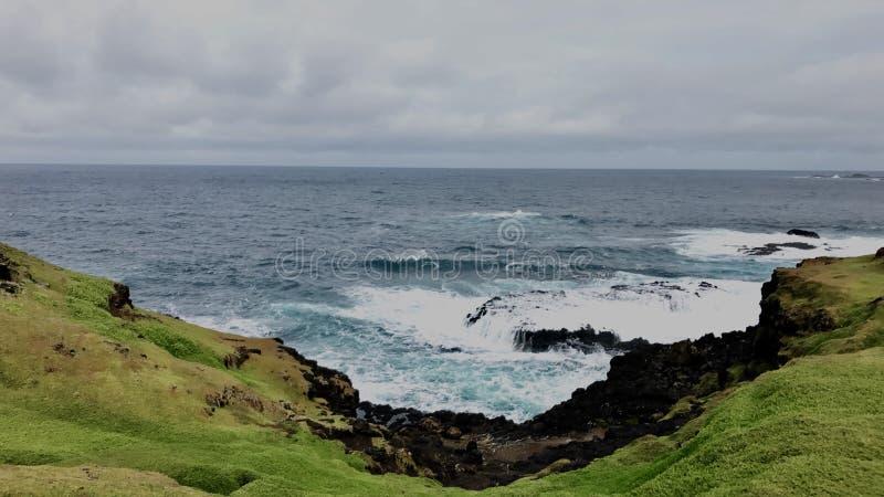 Océano nublado fotografía de archivo libre de regalías