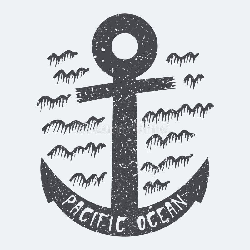 Océano Pacífico del ancla libre illustration