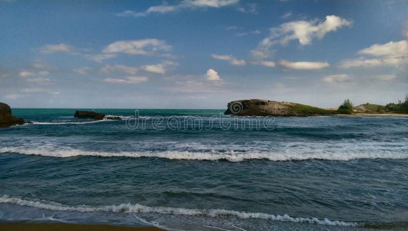 Océanos de Puerto Rico fotografía de archivo libre de regalías