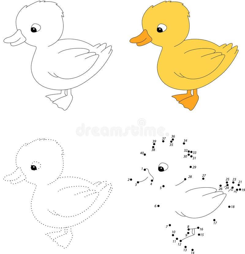 Oca bianca Illustrazione di vettore Punto per punteggiare gioco per i bambini illustrazione di stock
