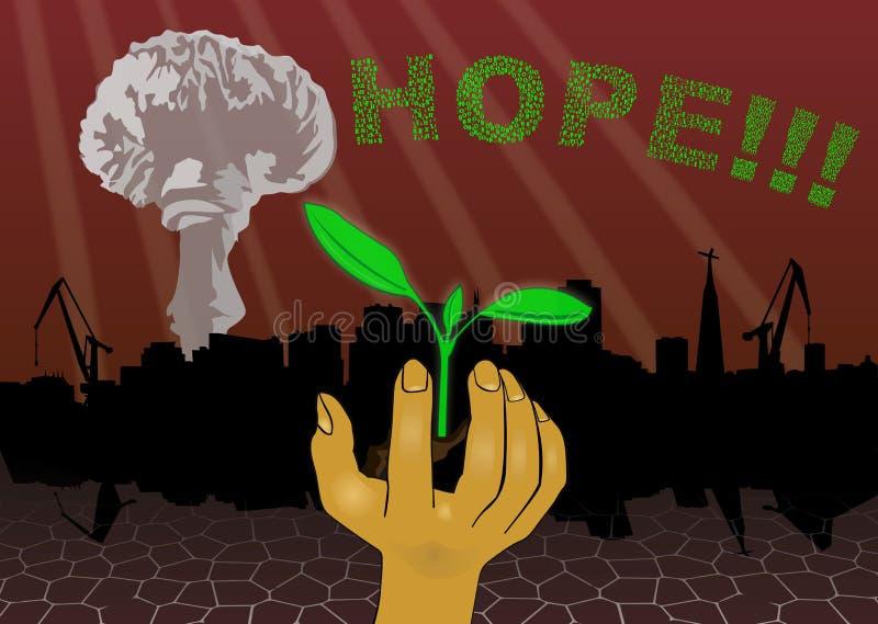 Ocalały - nadzieja umiera po raz ostatni ilustracja wektor