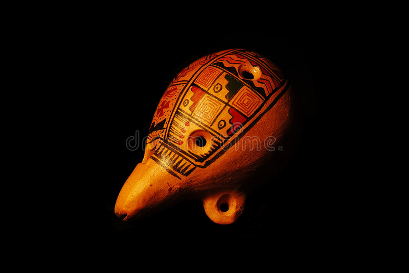Download Ocarina stock image. Image of object, blow, wind, background - 1405251