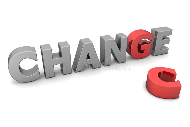 Ocasión de cambiar - rojo y gris stock de ilustración