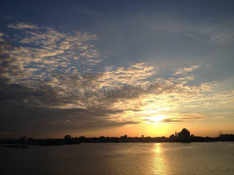 Ocaso en Veracruz zdjęcie stock