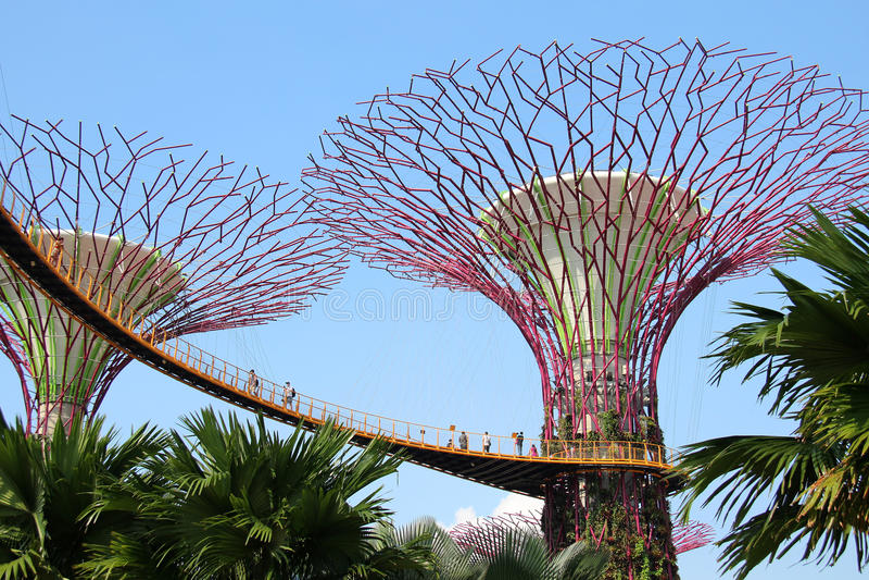 OCBC Skyway - Singapour images libres de droits