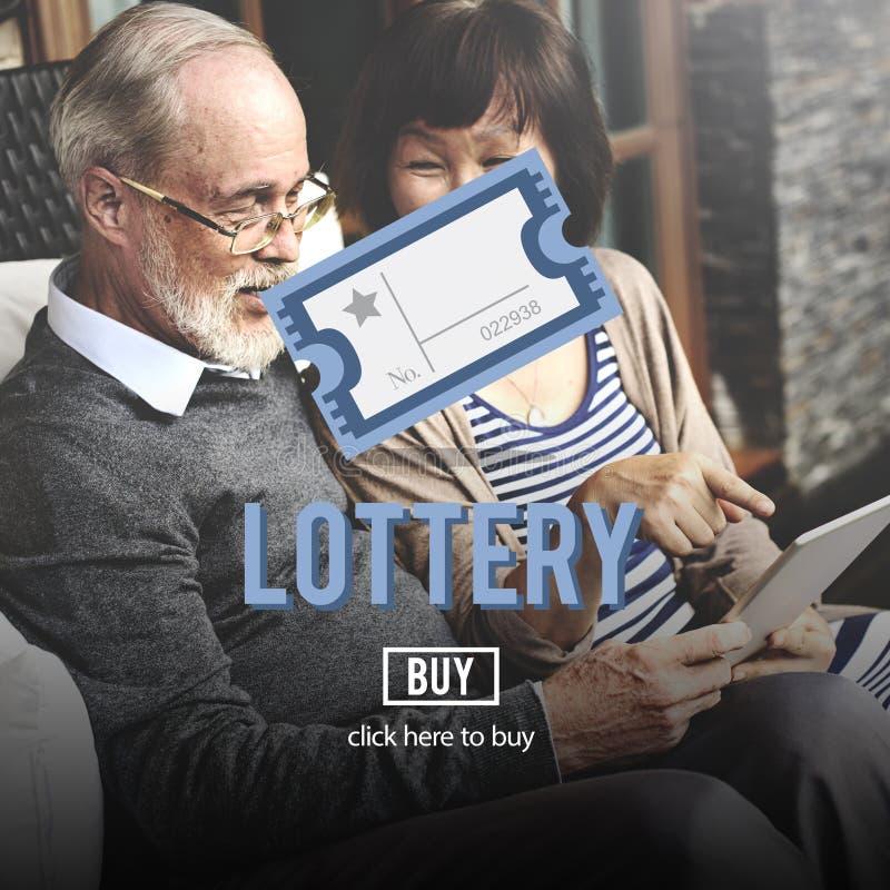 Occasion de loterie jouant Lucky Risk Game Concept photo libre de droits