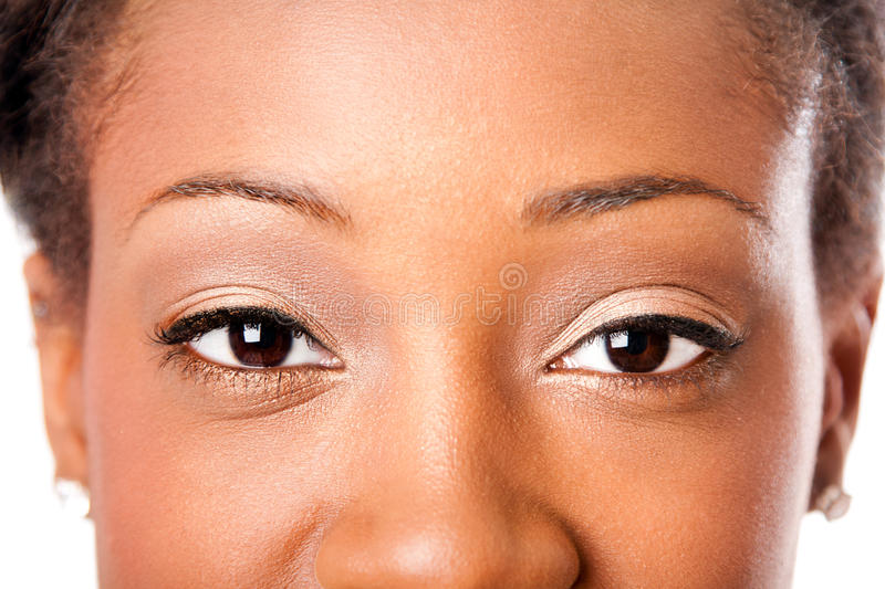 Occhi africani di bellezza fotografia stock libera da diritti