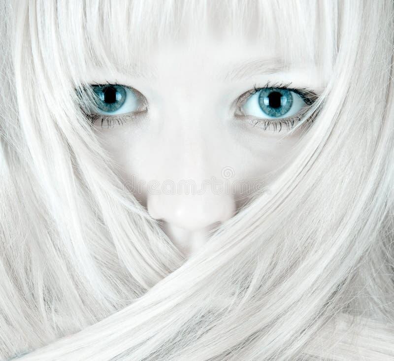 Occhi azzurri graziosi immagine stock