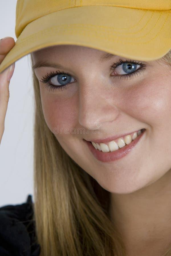 Occhi azzurri scintillare fotografie stock libere da diritti
