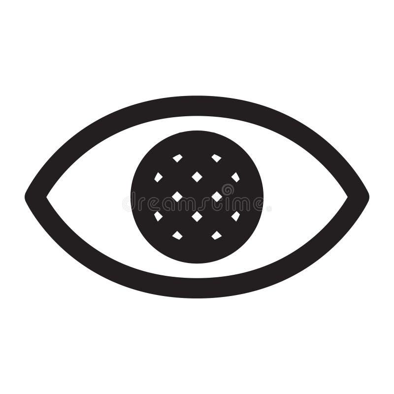 Occhi ciechi illustrazione di stock