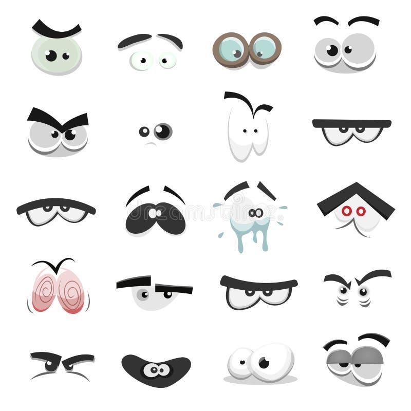 Occhi comici messi illustrazione di stock