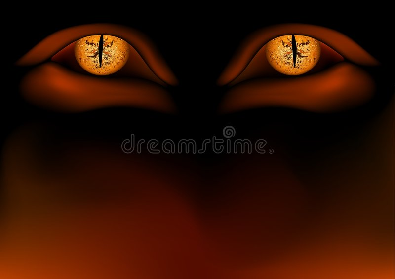 Occhi del demone illustrazione di stock