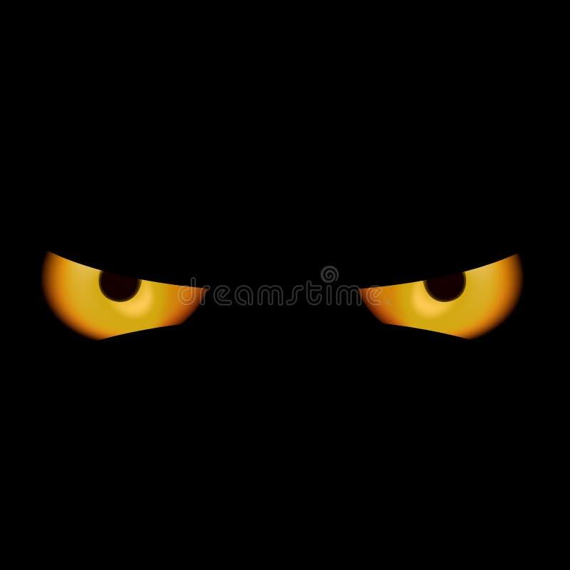 Occhi del diavolo illustrazione di stock