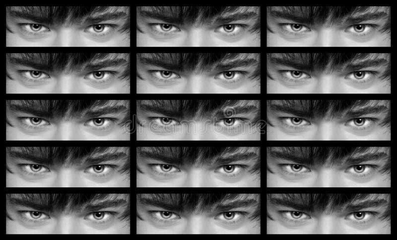 Occhi dell'uomo fotografie stock libere da diritti