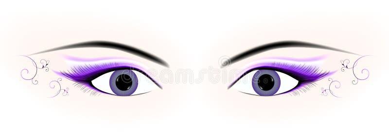 Occhi della donna illustrazione vettoriale