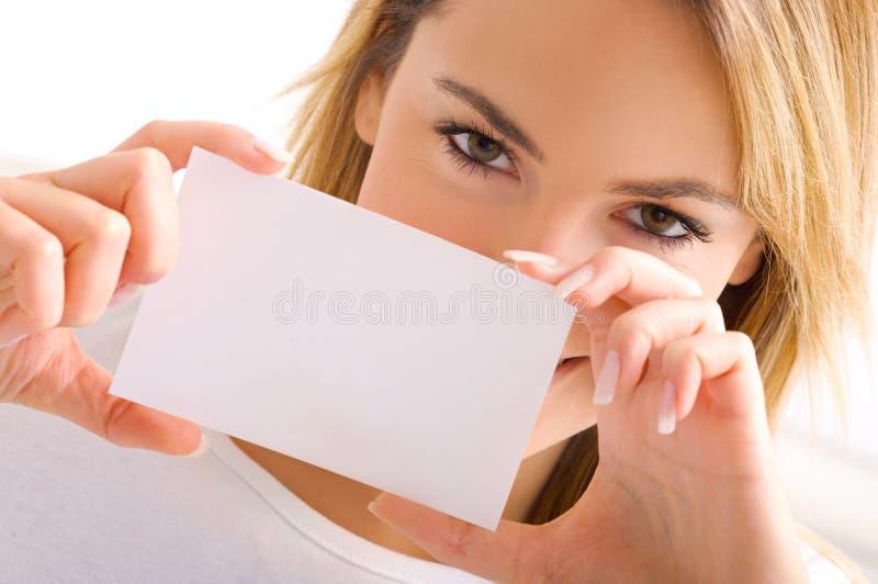 Occhi della ragazza bionda fotografie stock libere da diritti