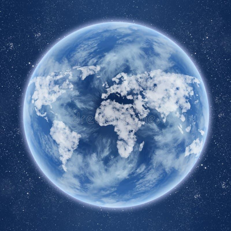 Occhi della terra illustrazione vettoriale