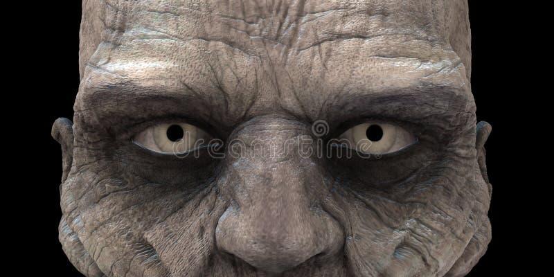 Occhi dello zombie fotografia stock