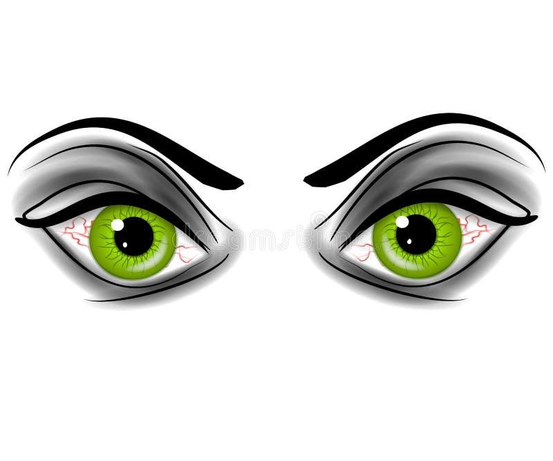 Download Occhi Demonic Del Diavolo Verde Diabolico Illustrazione di Stock - Illustrazione di colore, malvagità: 3131519