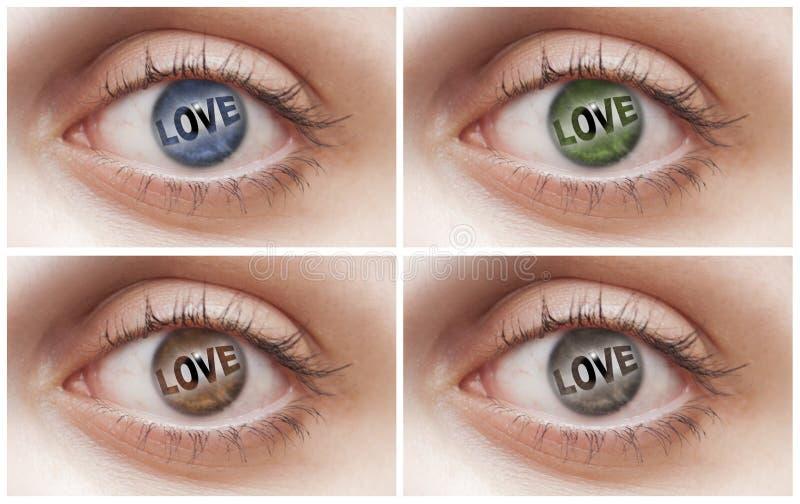 Occhi di amore fotografia stock