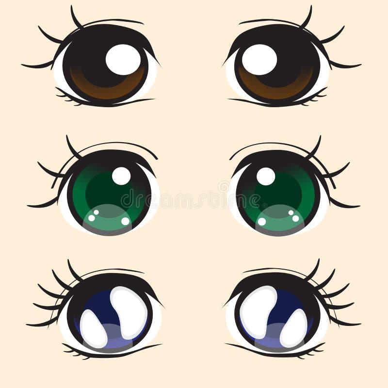 Occhi di anime illustrazione di stock